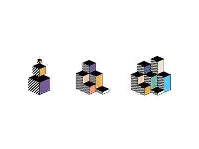 Iconography/Illustration Stylefinding onboarding statistics stats 3d blocks icon illustration concept ui design