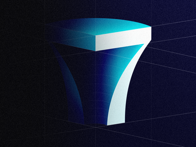 7 countdown type design lettering number