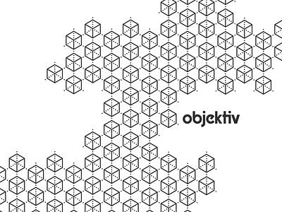 objektiv Logo Pattern experiment fun logo designer objektiv repeat pattern brand logo design