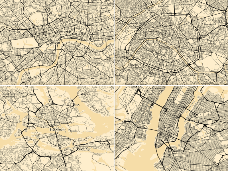 Mapbox Optimising cities streets geography cities cartography mapbox maps design