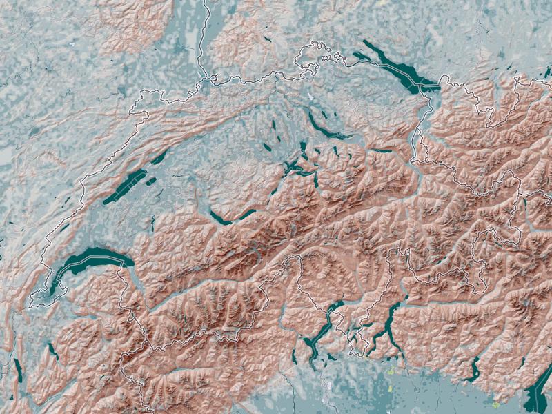 Eduard Imhof inspired Mapbox Style cartography mapstyle style mapbox map design