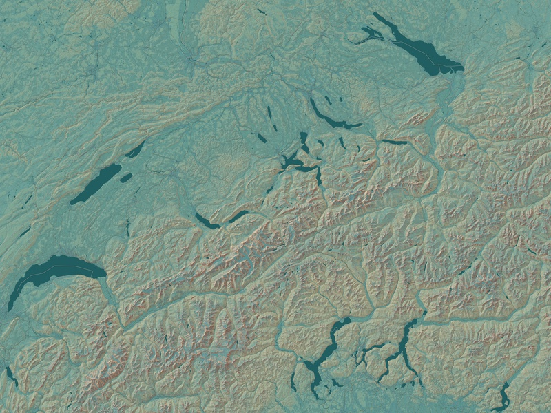 Switzerland in the Style of Eduard Imhof europe switzerland geography mapping digitalmap mapbox cartography map design