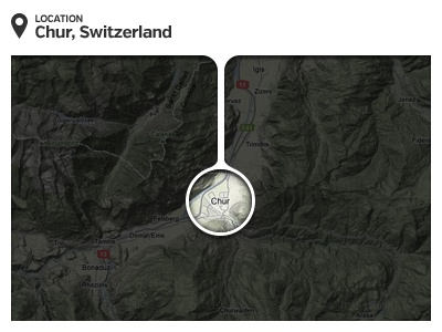Alternative Map Pin search interface design alternative pin map