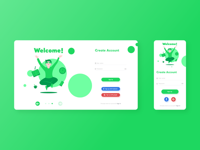 #001 - Sign Up daily ui sign in creativity web dribbble ui design vector illustrator illustration