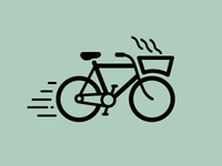 pizza delivery bike