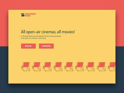 Draussen Kino Landing page