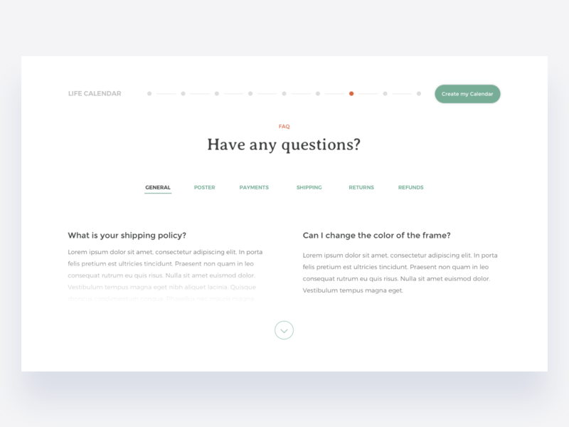FAQ Page contact how it works support help ux design faq ui design questions expand tabs webpage website frequently asked questions faq page