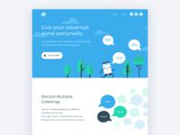 Hi Voicemail App Landing Page
