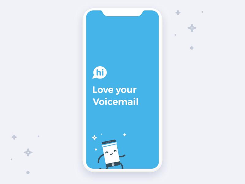 Hi voicemail app   dribbble