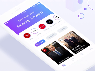 FlickStory App - News Stories interaction grid creative cards application animated 2d ui design app interaction design gif gradient aftereffects animation story user experience user interface mobile app news