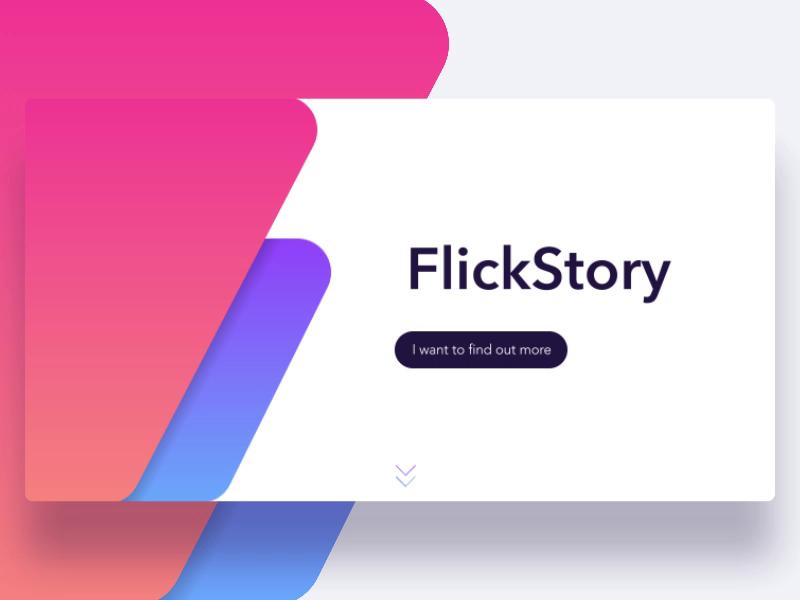 Flickstory website   dribbble