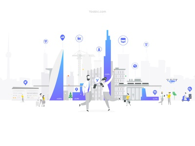 New Header - Yoobic logo websites london startup animation video website header yoobic
