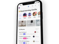 Yoobic - Next level sketch ios design logo app mockup iphone x london startup iphone yoobic