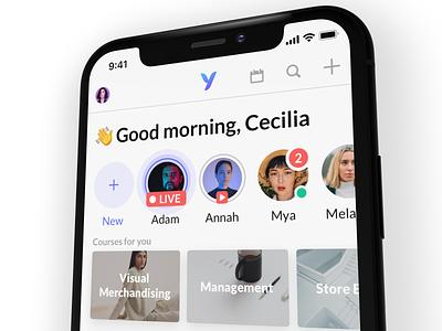 Yoobic - Next level sketch ios design logo app mockup iphone x london startup iphone yoobic