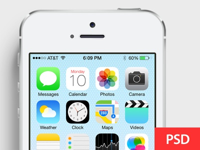 Customize screen in iOS7 devices PSD device psd screen customize iphone5s iphone5c photoshop