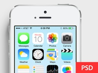 Customize screen in iOS7 devices PSD