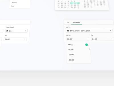 Dates Filter Component saas platform design light dark component date calendar yoobic yobi design system