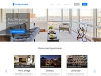 The Apartment - Website Template PSD