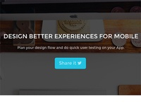 New look for landing page