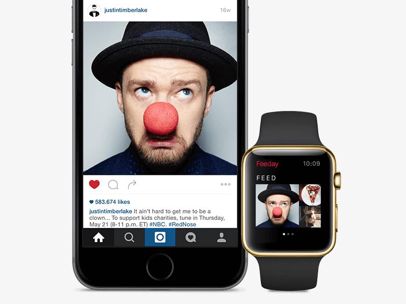 Feeday on Apple Watch app app store widget instagram feeday apple watch watch apple