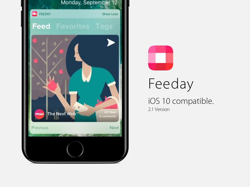iOS 10 compatible ios10 feedayapp ios 10 photo app store iphone app instagram iphone 7 widget 2.0 feeday