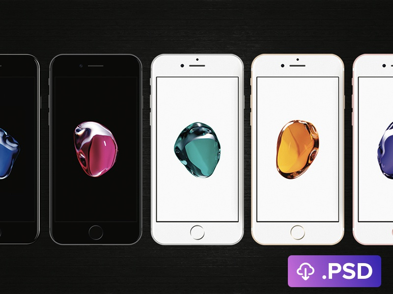 iPhone 7 .PSD quick action app download photoshop mockup psd iphone iphone7 iphone 7