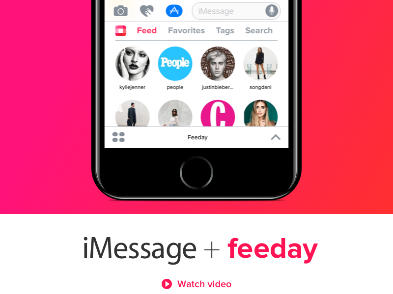 iMessage + Feeday photo message chat ios10 feedayapp ios 10 photos app store app instagram imessage feeday