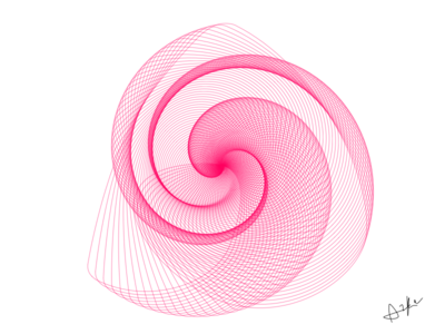 Sketching Infinite pink loop