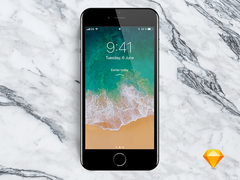 New iPhone 7 mockup for Sketch app download mockup sketch iphone sketch app iphone7 iphone 7