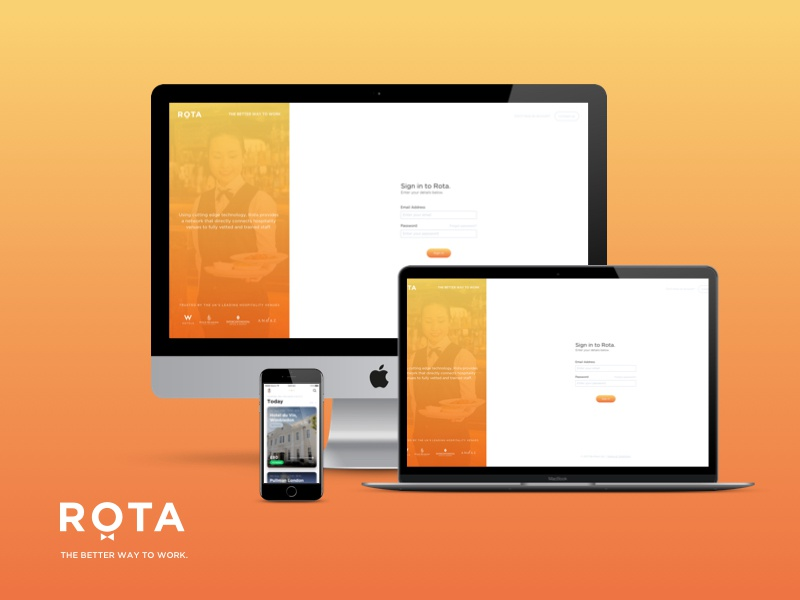 Rota v3.0 is live! web app store member hospitality london android ios icon app rota