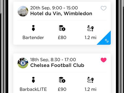 Rota list view ios11 browse app store member hospitality london ios iphone x iphone10 iphonex app rota