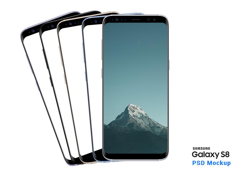 New Galaxy S8 PSD mockup android app resource photoshop layered samsung galaxy s8 s8 galaxy s8 galaxy mockup psd samsung