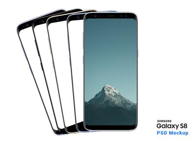 New Galaxy S8 PSD mockup