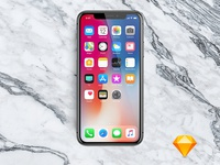 iPhone X Mockup Sketch all-in-one