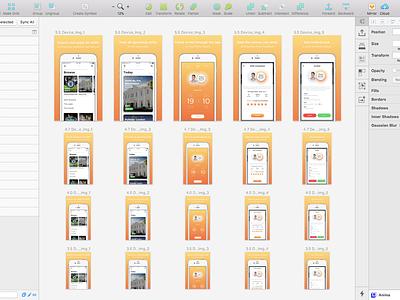 Rota - App Store screenshoots iphone hospitality startup london app sketch screenshot app store rota