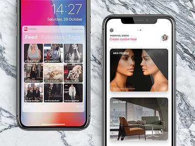 Grid layout for Feeday widget marble iphonex iphone x grid layout instagram app feeday