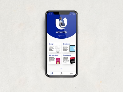 uSwitch iOS app Concept home screen ui user interface startup iphonex iphone ux london concept apple iphone x uswitch
