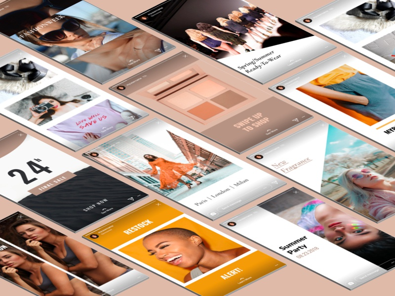 Instagram Stories Templates customize campaign ui creative market psd mockup template stories story instagram