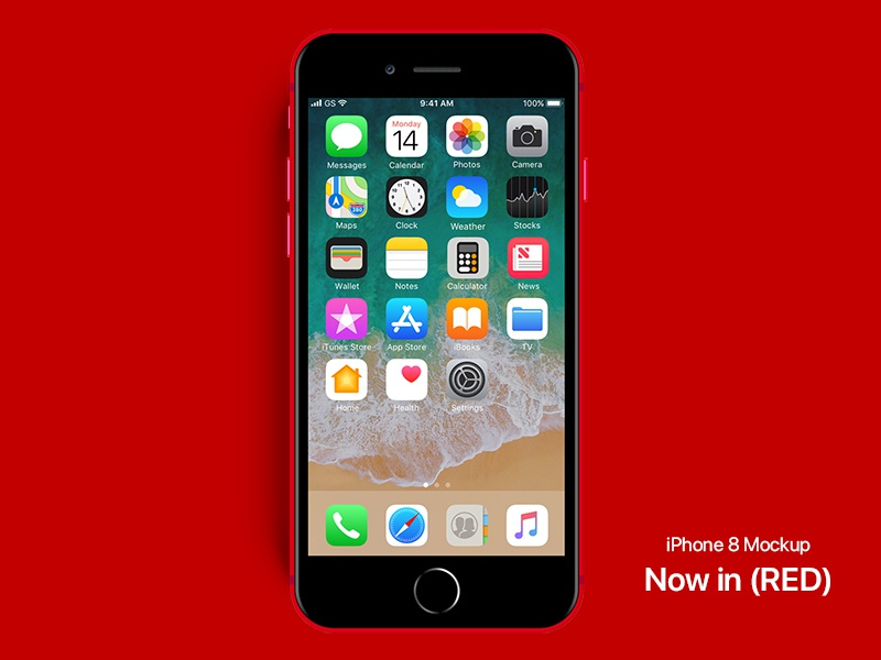 New iPhone 8 RED psd iphone 8 red creative market photoshop iphone 8 download psd mockup iphone iphone red red