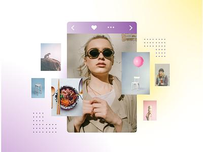 Pinterest x Smartly app beauty fashion radiant photo ramen balloon girl woman light collage ux tech gradient