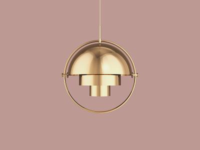 Multi-Lite Lamp 3d artist 3d design 3d designer realism inspiration gold design octane interior lighting material hdri model render c4d cinema 4d 3d
