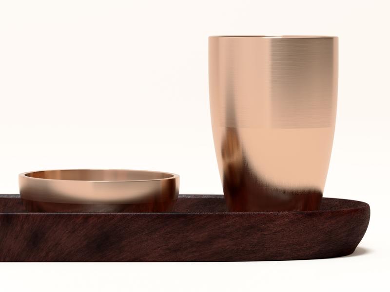 Copper vase 3d artist 3d design 3d designer rendering copper vase wood interior design material hdri realism model octane cinema 4d render c4d 3d