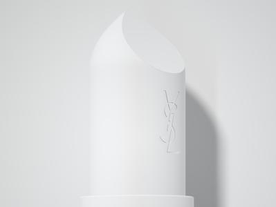 Lip balm stick Clay 3d rendering fashion brand cosmetic fashion lipstick clayrender realism 3d design model octane cinema 4d render c4d 3d designer 3d artist 3d