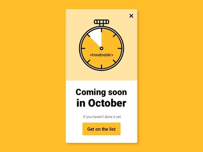 Coming Soon UI page