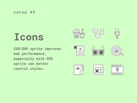 Cutup  #5 Icons CSS/SVG sprite
