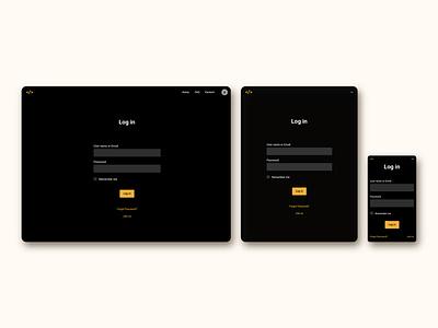 Login page for FrontEnd30 website / UI design branding ui design ui web design login page