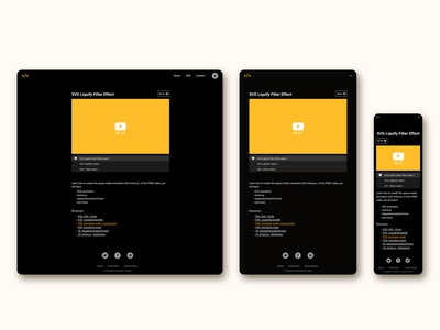 course content page for FrontEnd30 website / UI design responsive course ui design ui video ui content page