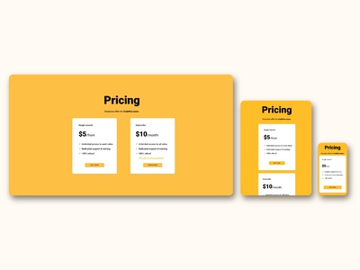 Price page for FrontEnd30 website / UI design pricing pricing page dark theme intro page web design web ui design