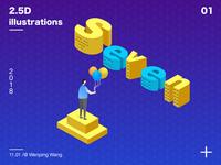 2.5D illustrations design