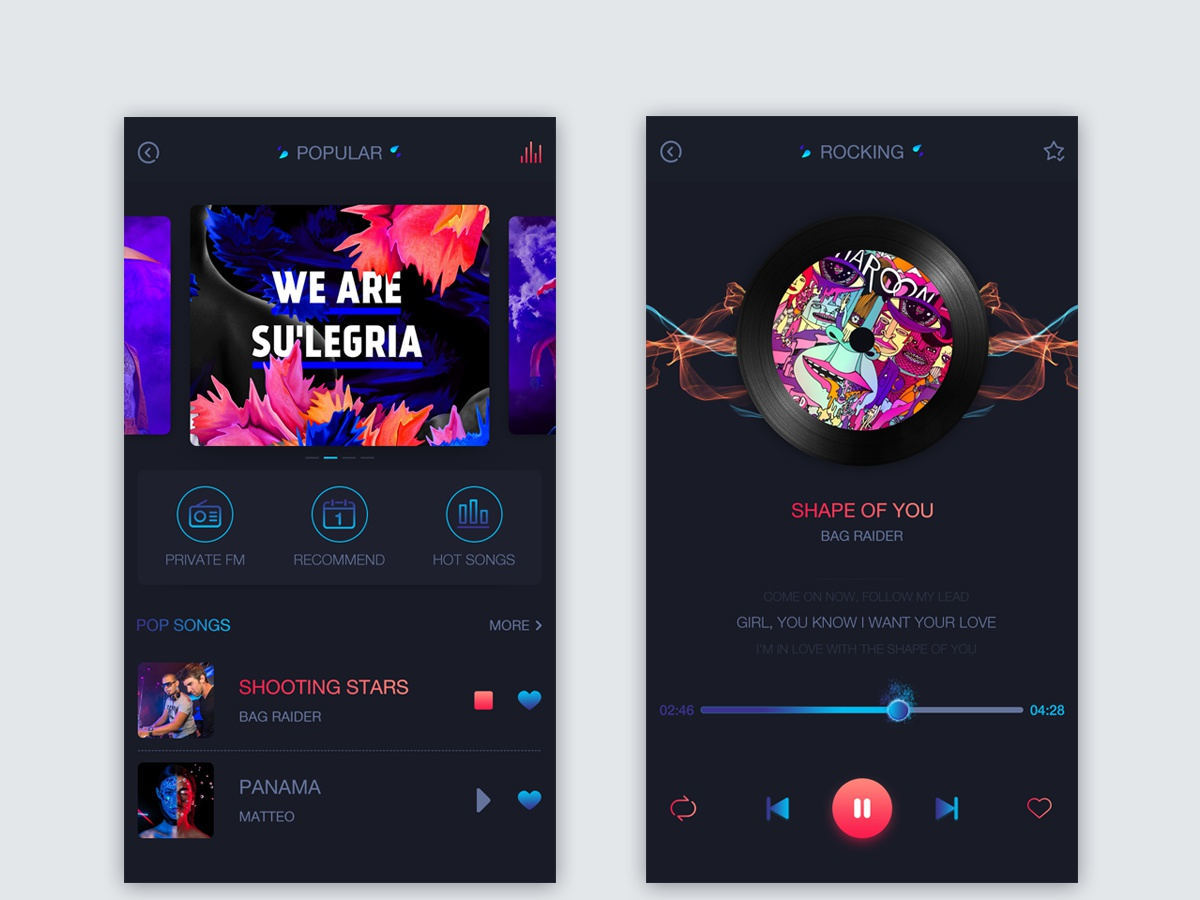 Witness the power of music 动态效果 ux ui 设计 插图
